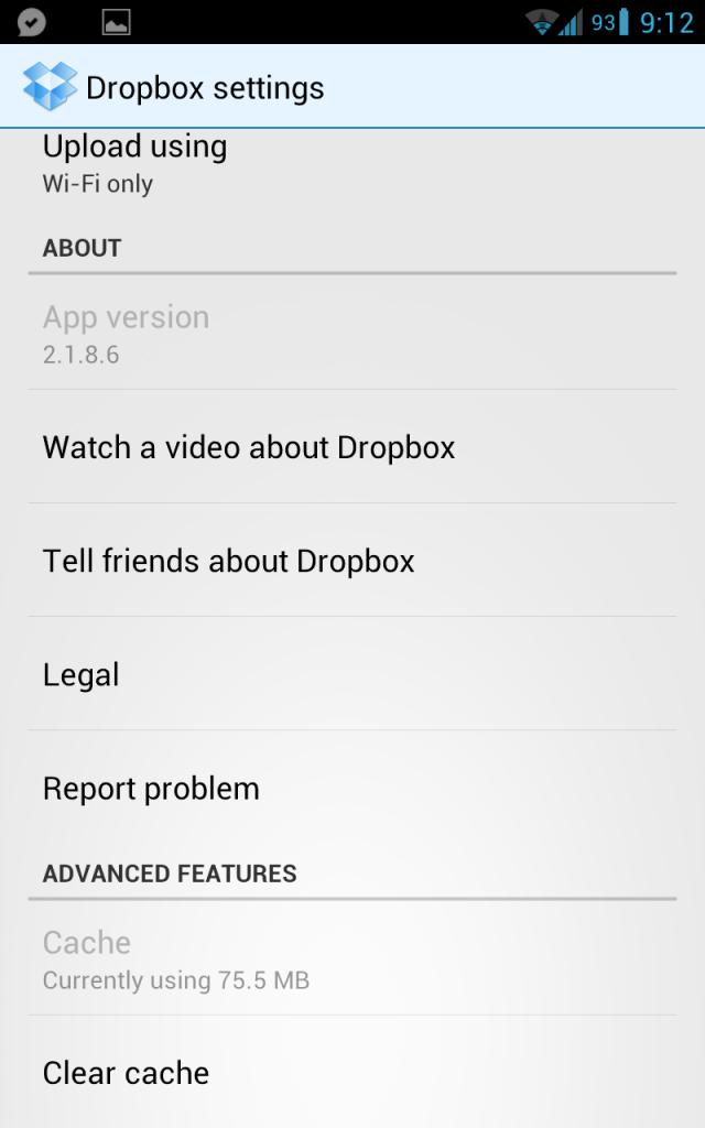 [Download] Превью нового приложения Dropbox for Android