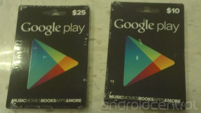 Появились фотографии подарочных сертификатов для Google Play
