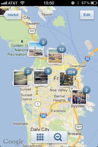Instagram 3.0 теперь показывает фотографии на карте и имеет бесконечную прокрутку ленты