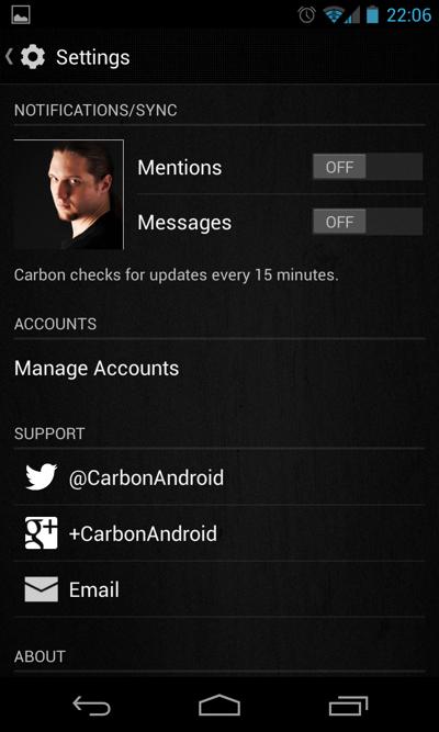 Carbon for Twitter - новое пришествие