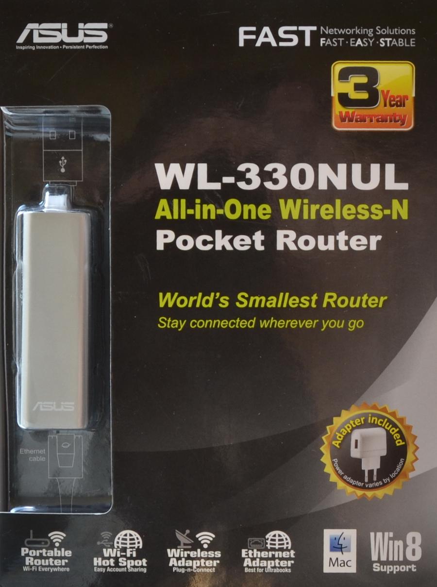 Обзор карманного роутера ASUS WL-330NUL