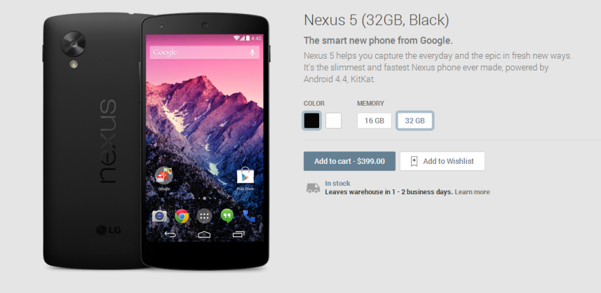 Nexus 5 32GB Black