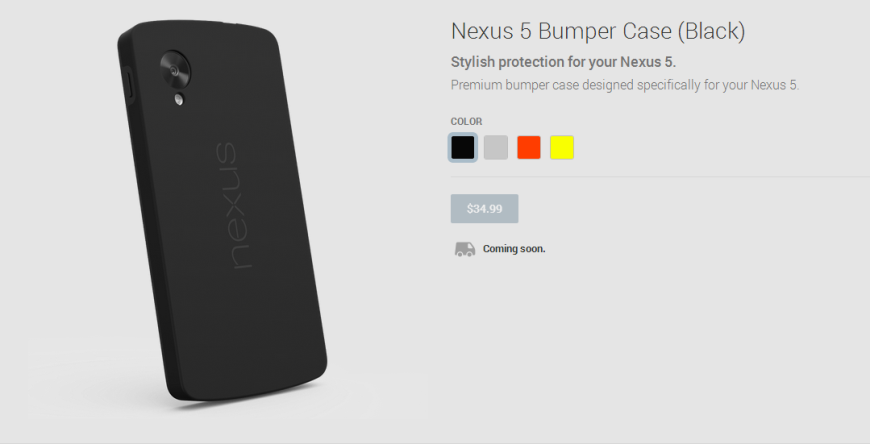 Nexus 5 Bumper Case  Black