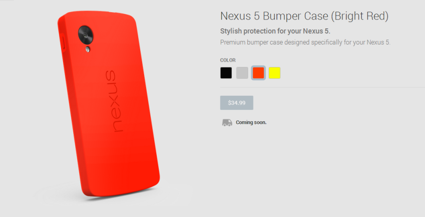 Nexus 5 Bumper Case  Bright Red