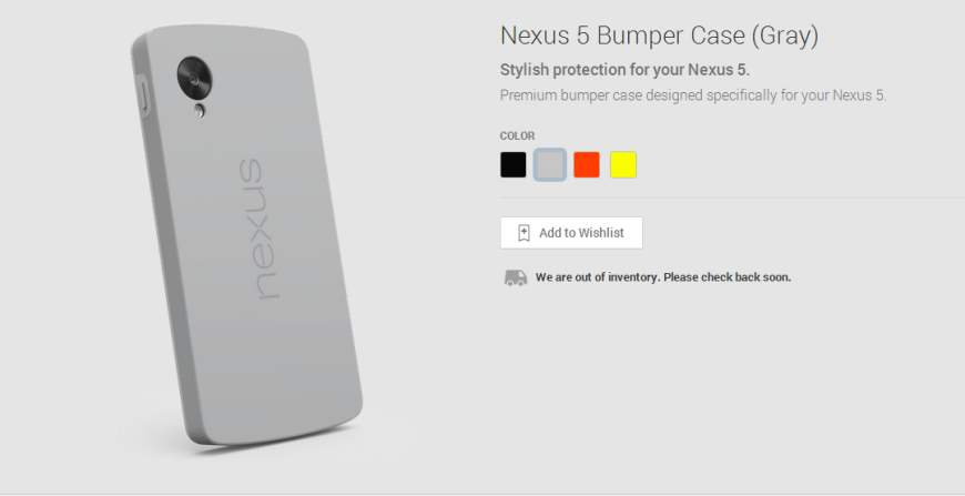 Nexus 5 Bumper Case Gray