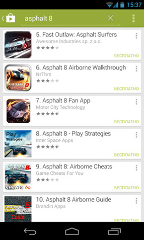 Google play asphalt 8 copy