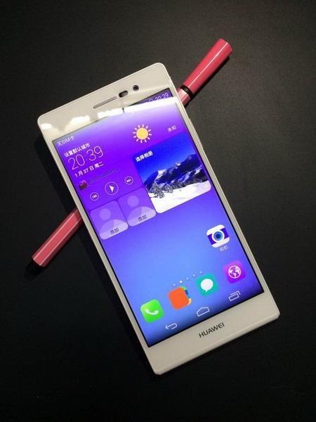 Появились фотографии Huawei Ascend P7