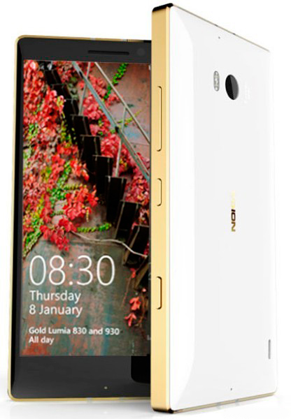 Представлены золотые версии Lumia 830 и Lumia 930