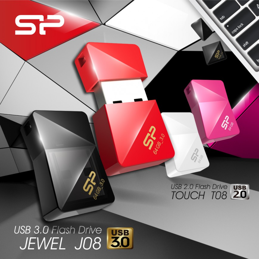 Silicon Power Touch T08 и Jewel J08 – флешки «драгоценные камни» для девушек