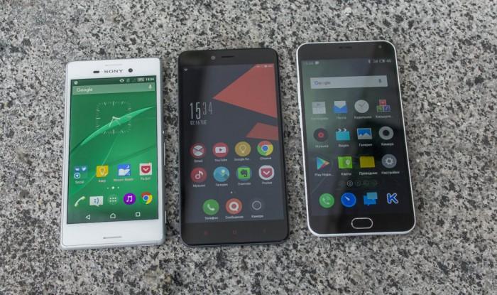 Sony M4 Aqua - Xiaomi Redmi Note 2 - Meizu M2 Note