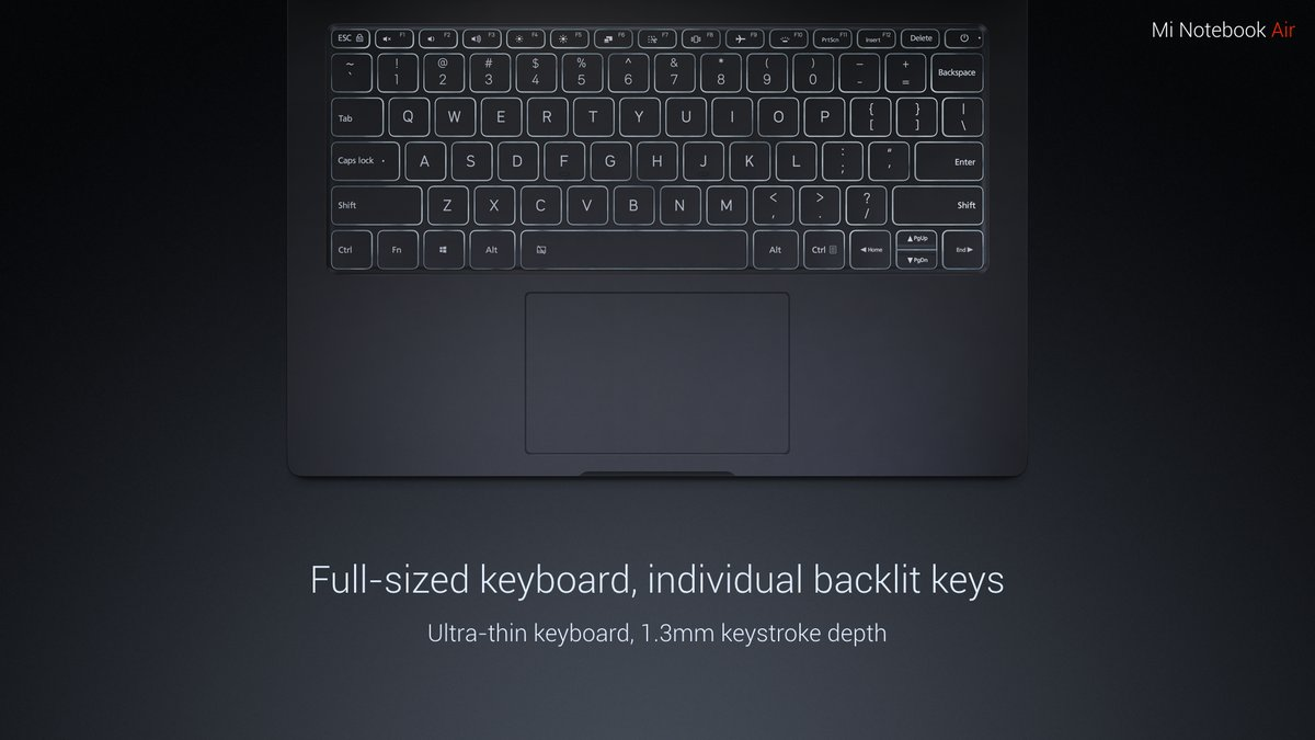 Mi Notebook Air keyboard