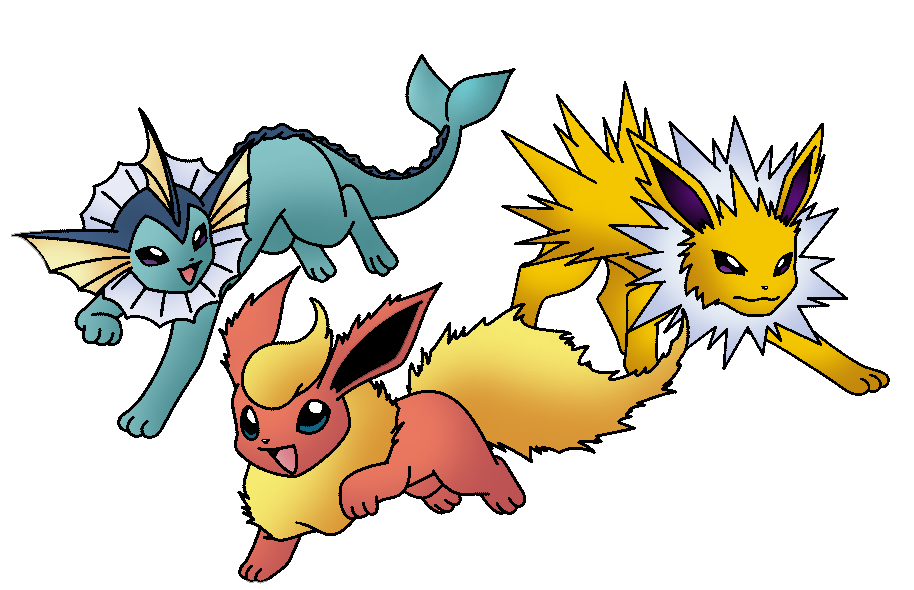 jolteon__flareon_y_vaporeon_by_thunderwest