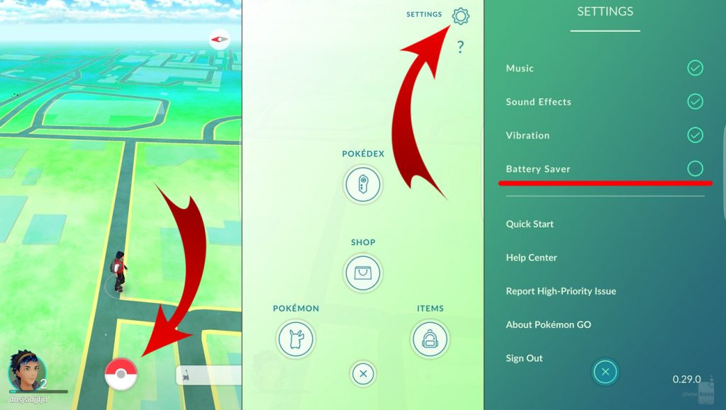 Pokémon GO Battery Saver
