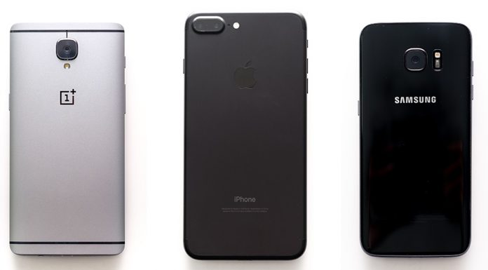 iPhone 7 Plus vs Galaxy S7 Edge vs OnePlus 3