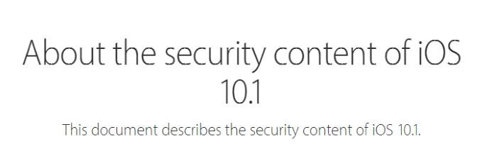 Apple закрыла большую уязвимость в iOS 10.1