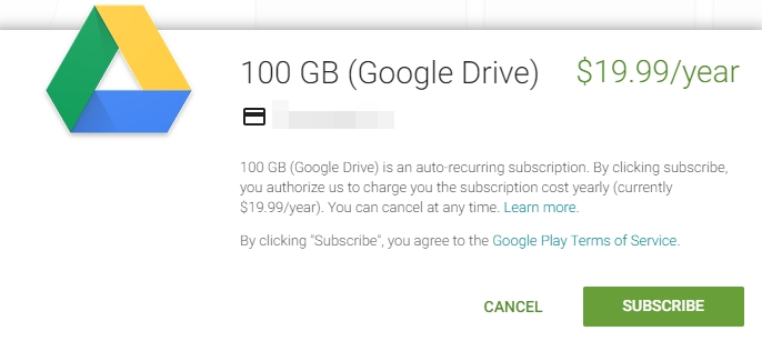 google drive new plans