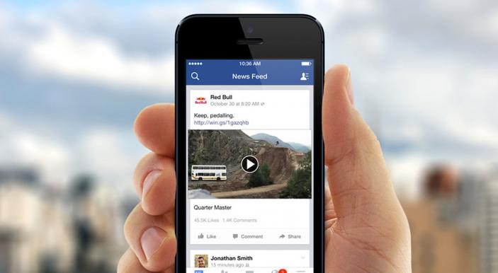 Среди видеороликов фейсбук хочет демонстрировать рекламу