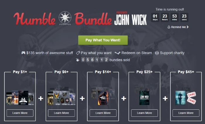 humble bundle payday 2 not title