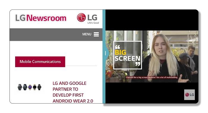 Информация об экране и функциях интерфейса LG G6 в тизерном видео