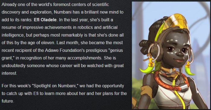 11-летняя Эфи Оладеле станет новым персонажем в Overwatch?