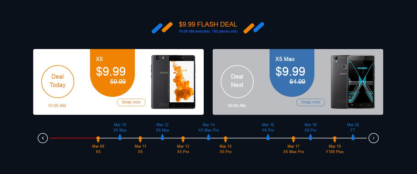 Скидки на новый смартфон с двумя камерами DOOGEE Shoot 2 и большая распродажа 3-20 марта