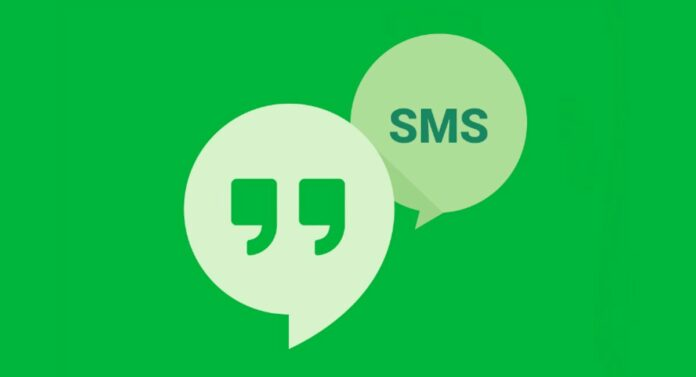 hangouts sms title