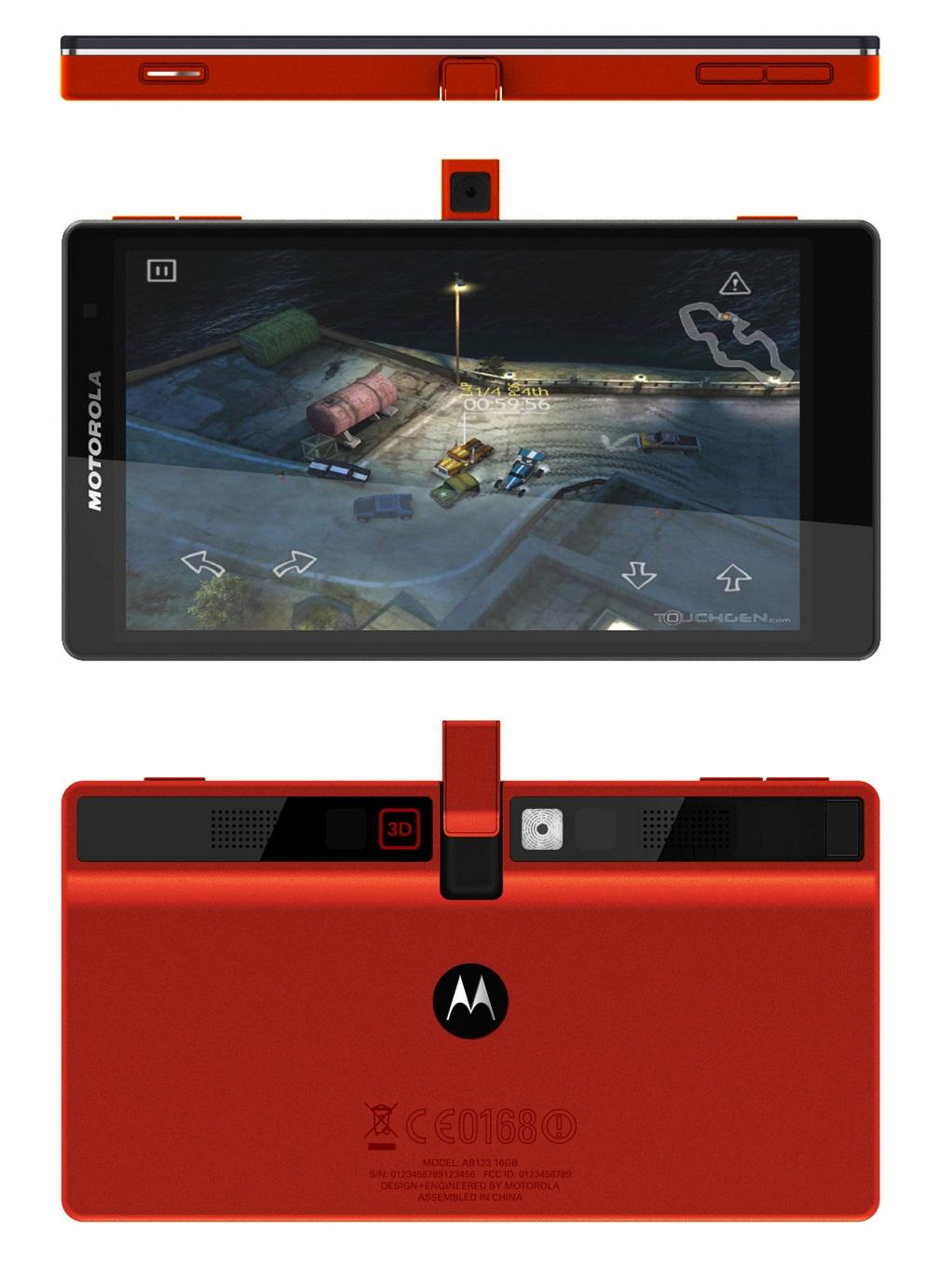 У Мережу потрапило зображення концепту ігрового телефону Motorola 2011 року