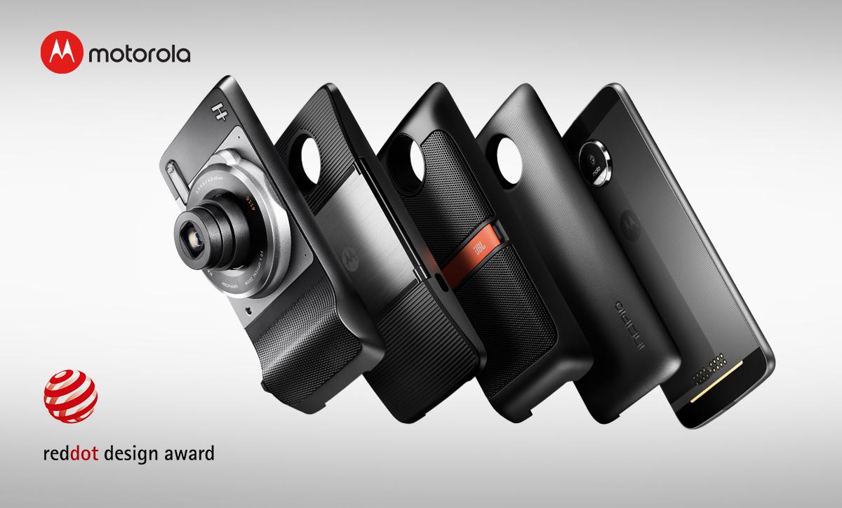 Смартфоны Moto Z получили премию Red Dot 2017 за лучший дизайн