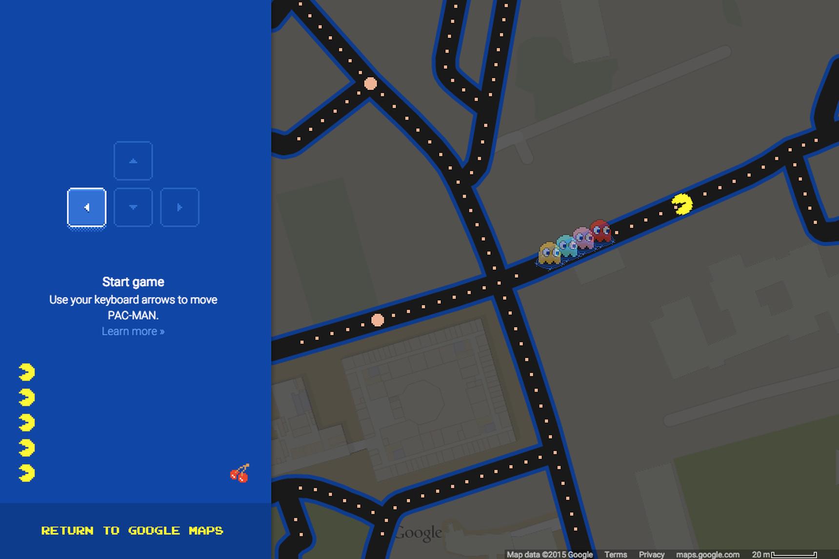 «Пакман» знову з'явився на картах Google Maps у честь першого квітня