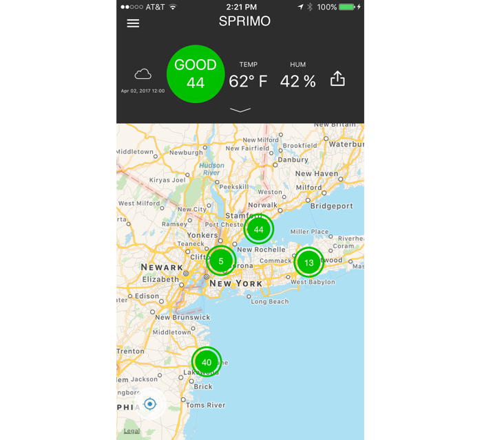 Sprimo Personal Air Monitor