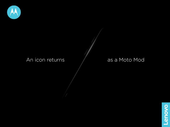 Motorola тизерит возвращение RAZR в виде Moto Mod