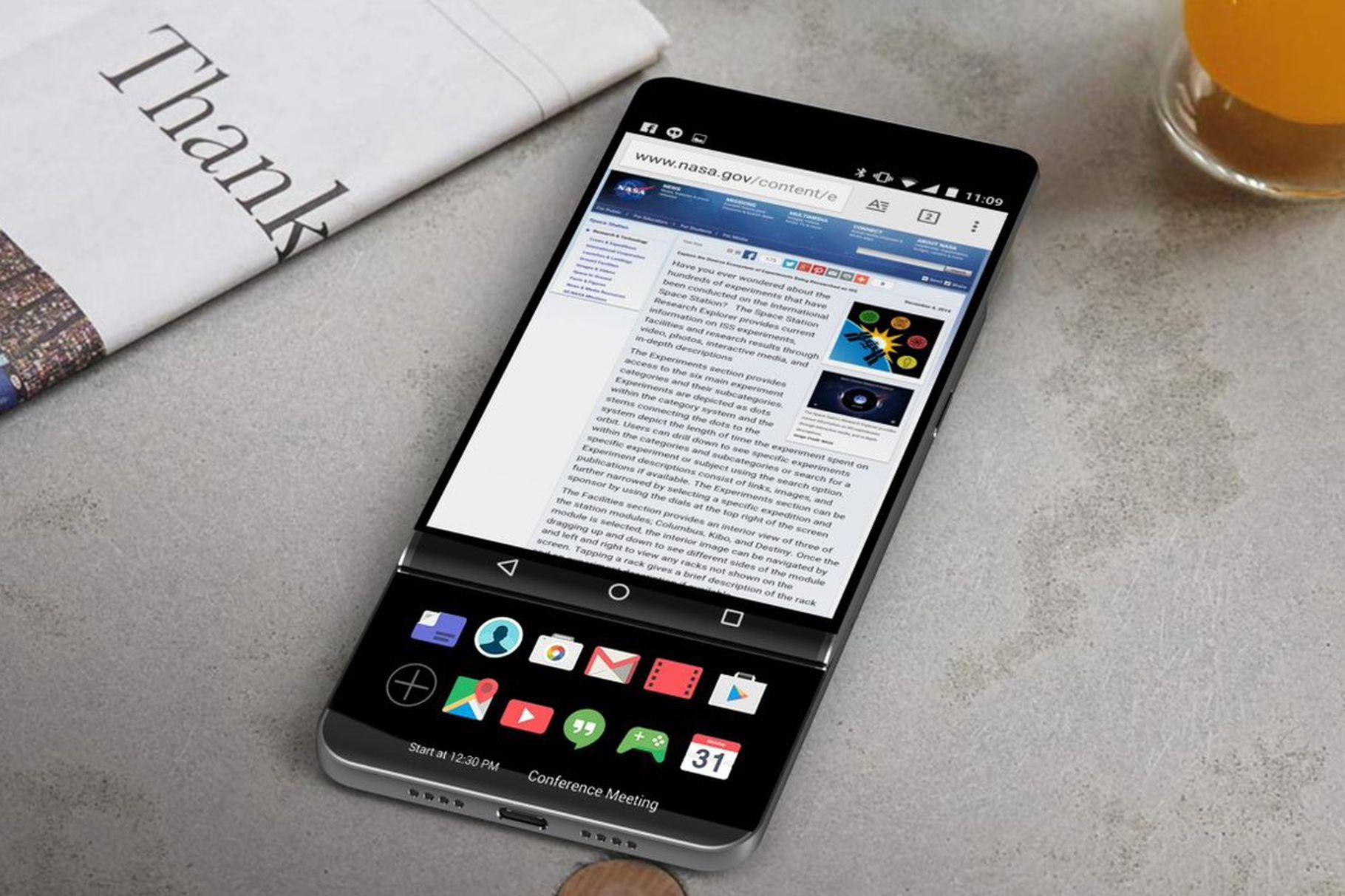LG V30 – раздвижной смартфон с двумя OLED-экранами