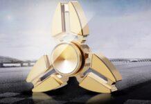 Tri Copper Gyro Metal Fidget Spinner 1