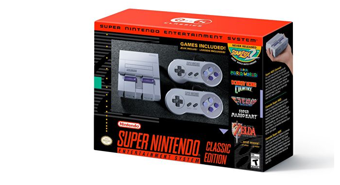 Nintendo анонсировали выпуск ретро-консоли SNES mini