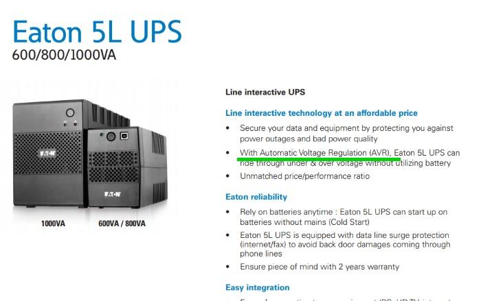 Eaton 5L UPS AVR