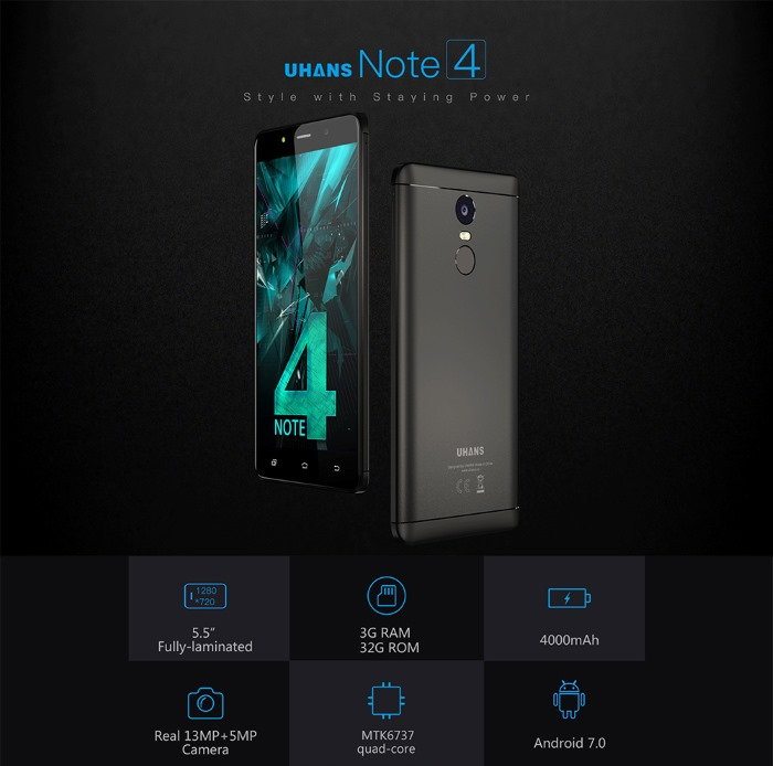 UHANS Note 4 1 gearbest