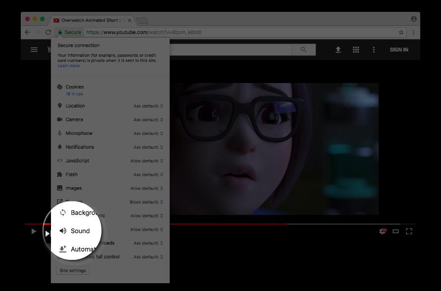Google Chrome даст возможность полностью отключать звук на сайте