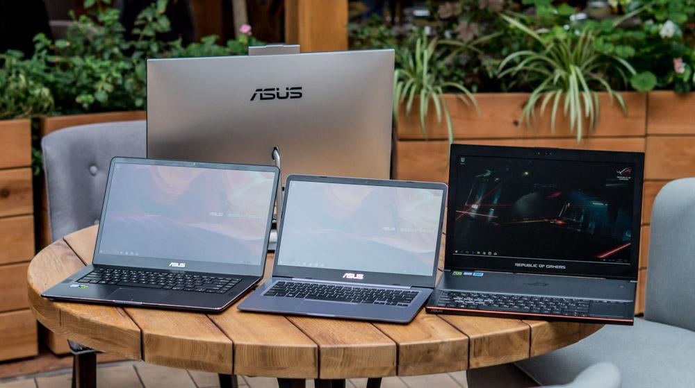 Презентация новых ноутбуков ASUS
