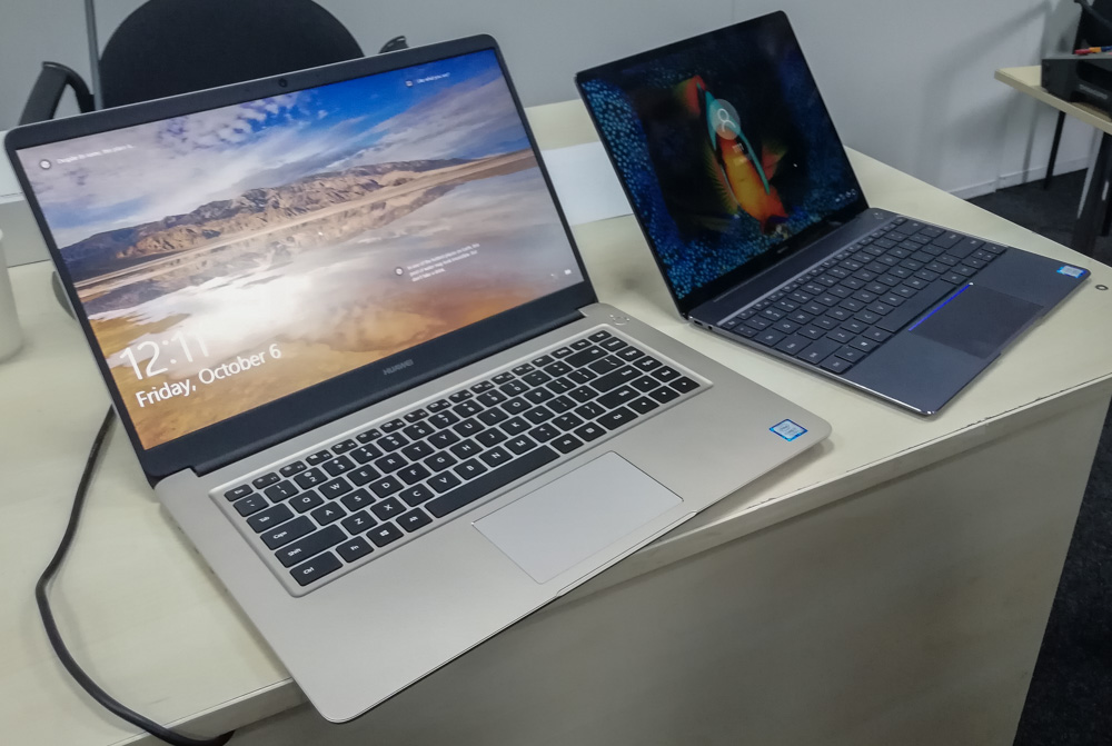 Презентация ноутбуков Huawei Matebook X и Matebook D в Украине