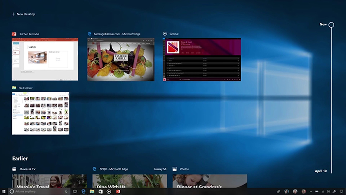 Timeline windows 10 update
