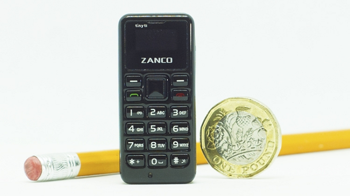 Zanco Tiny T1 станет самым маленьким мобильным телефоном в мире