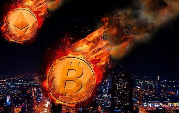 Стоимость Bitcoin опустилась ниже $10 000
