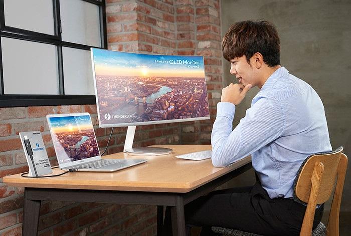 Samsung CJ791 – изогнутый QLED монитор с портом Thunderbolt 3