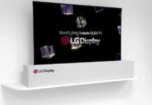 LG 65 inch UHD rollable OLED TV
