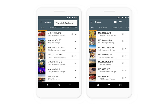 Google Files Go теперь поддерживает планшеты и карты памяти