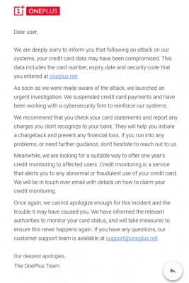 OnePlus признали утечку данных о банковских картах покупателей