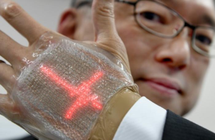 Японские учёные изобрели «накожный дисплей»