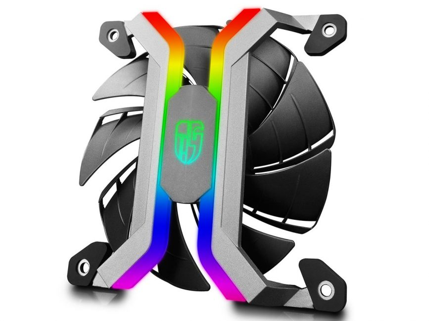 Deepcool MF 120 – безрамочный кулер с RGB подсветкой