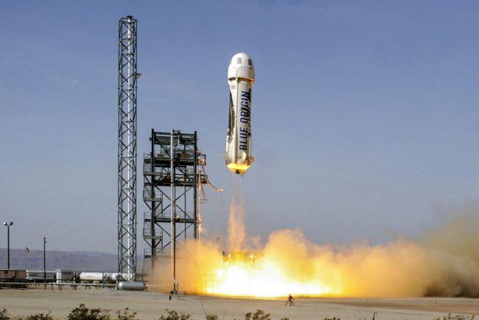 Blue Origin вдало посадила свою восьму ракету New Shepard