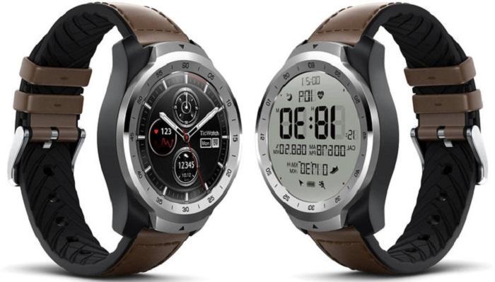 """TicWatch Pro – """"умные"""" часы с двойным дисплеем"""